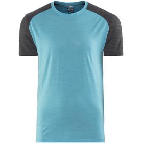 Icebreaker M's Sphere SS Crewe Shirt mediterranean hthr/black hthr
